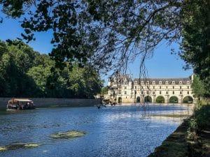 Il fiume Cher che lambisce il castello di Chenonceau