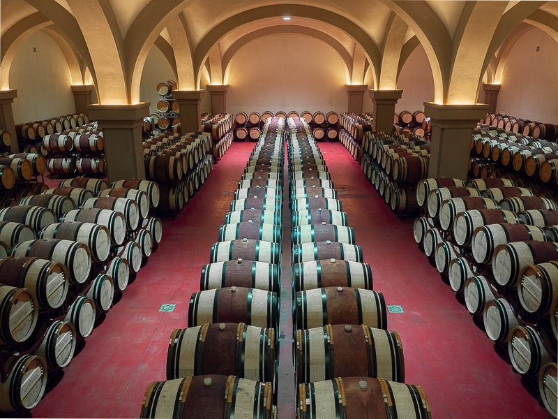 barriques in cantina