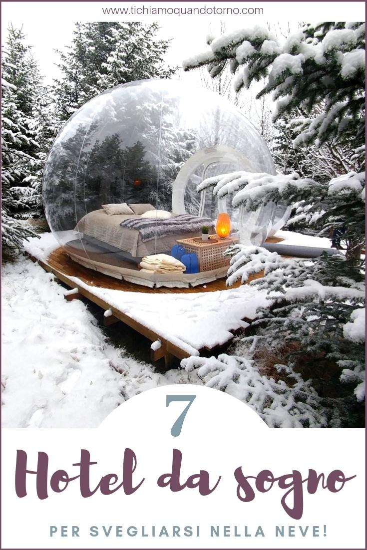 Hotel da sogno nella neve