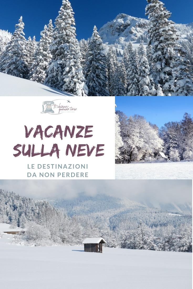 Vacanze invernali sulla neve