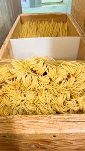 Gli spaghetti appena tagliati