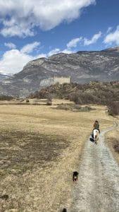 Cavalcata al castello di Ussel