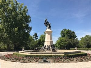Fontana dell'Ángel Caído a Madrid