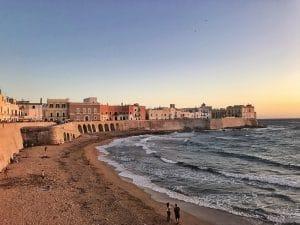 la spiaggia della Puritate a Gallipoli