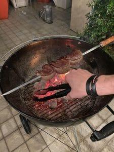 La carne sulla brace