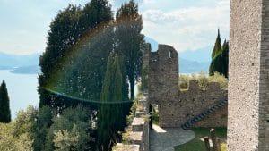 Le mura del castello di Vezio
