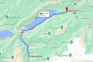 Strada del lago di Brienz
