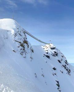 Il ponte sospeso a Glacier 3000