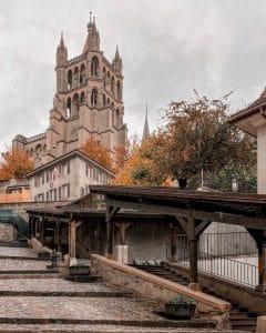 Losanna: l'Escaliers du Marché e cattedrale
