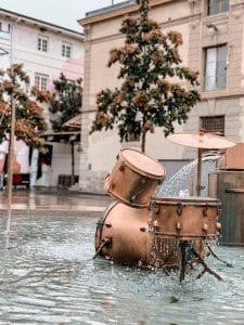 Losanna: fontana al Flon