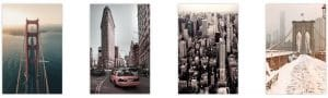 Poster e scorci urbani