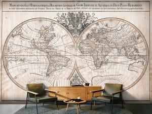 Carta parati vintage World map