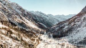 La Val Formazza vista dalle cascate del Toce