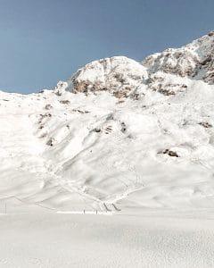 Le tracce lasciate dagli sci
