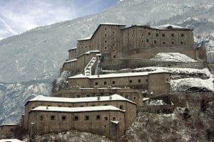 Il Forte di Bard in inverno