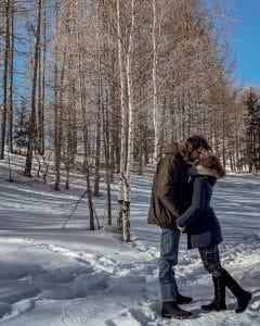 coppi che si baca nella neve