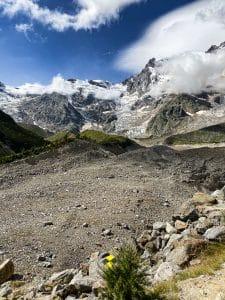 Il ghiacciaio nero del Belvedere