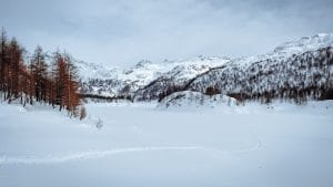 Il lago Devero ghiacciato