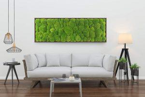Moss trend: quadro vegetale in muschio