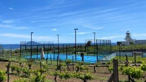 Il campo da Padel tennis di Capofaro
