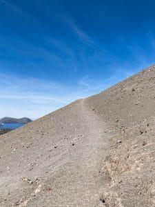 Il sentiero verso il Gran Cratere