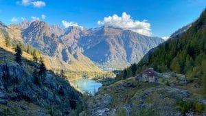 Lago di Antrona dalla diga di Campliccioli