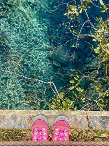 L'acqua cristallina del torrente Troncone
