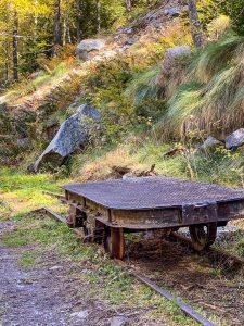 Un carrello della ferrovia Decauville a Campliccioli