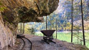 Un vagonetto della ferrovia Decauville a Campliccioli
