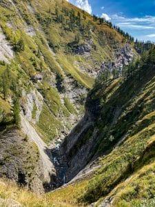 Trekking all'Alpe Veglia: La gola in cui scorre il torrente Cairasca